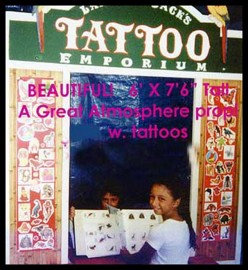 "Popular Rental - Great Fun and Atmosphere! WOW! A Real Tattoo Parlor! Kids love ""Lahaina Jack's Tattoo Emporium""! It looks like a Cranky Olde Pirate runs the place!"